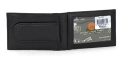 Slim Wallet With ID Window and Magnetic Money Clip Style :731