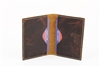 RFID Hunter Leather Men's Slim Bifold Card Case.  American Bison Product Code: 8018 Brown