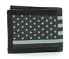 RFID Leather Bifold Wallet With American Flag