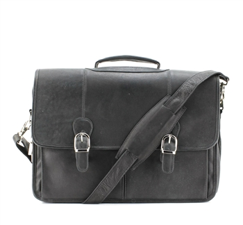 Two Snap Flap Over Soft Sided Briefcase Style : 8109