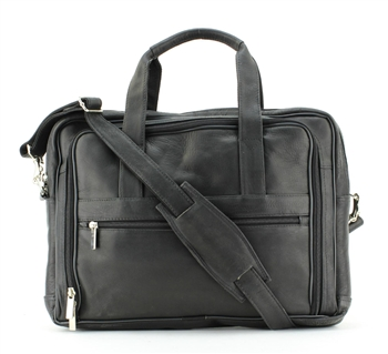 Zipper Compartment Soft Sided Briefcase Style : 8110
