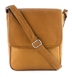 Transit Leather Slim Line Flap Over Messenger Bag Style #: 8117