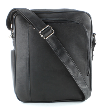Messenger Bag with Front Zip, Aspen Leather, Style #: 8118