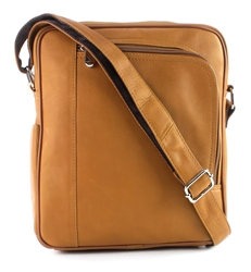 Transit Leather Messenger Bag with Front Zip Style #: 8118