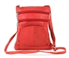 Medium Multi Pocket Cross Body Style: 876- RED