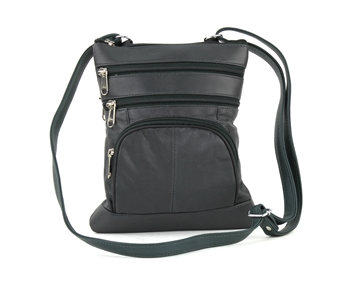 Medium Multi Pocket Cross Body Style: 876-DARK GREY