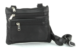 Small Leather Sling Bag, Style: 926A-BLK