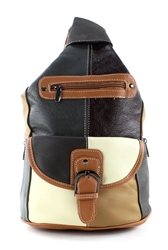 Cowhide Small Sling Bag Style : 965 - Multi