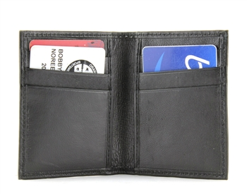 Lambskin Vertical Slot Card Case Style : BCC542 Black