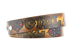 Painted Redneck Girl Belt Style : BL108