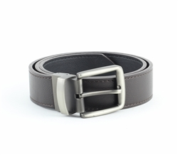 Vegan Leather Reversible Cut-To-Size Prong Buckle Belt  Style #BL176 Blk/Brown