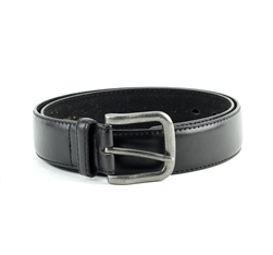 Vegan Leather Dress Casual Prong Buckle Belt Style #BL178 Black