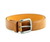 Vegan Leather Dress Casual Prong Buckle Belt Style #BL178 Tan