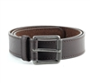 Vegan Leather Textured Casual Dress Roller Buckle Belt Style #BL180 Brown