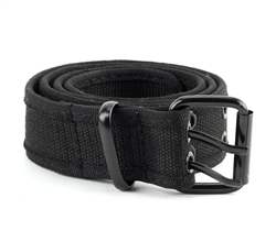 Cotton Canvas Double Grommet Hole Belt Style #BL181 Black