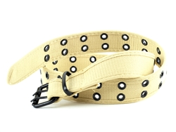 Cotton Canvas Double Grommet Hole Belt Style #BL181 Off-White