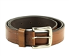 Genuine Leather Checker Embossed Prong Buckle Belt Style #BL252 Tan