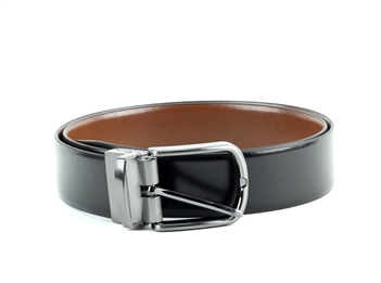 Genuine Leather Classic Dress Cut-To-Size Reversible Belt Style #BL253 Black/Brown