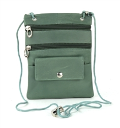 Lambskin Large Neck Purse Style : C13- MEDIUM GREEN