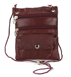 Lambskin Large Neck Purse Style : C13- BURGUNDY