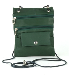 Lambskin Large Neck Purse Style : C13- DARK GREEN