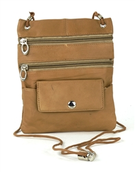 Lambskin Large Neck Purse Style : C13- DARK TAN