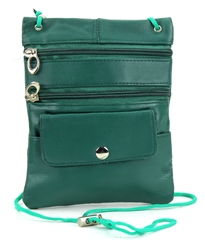 Lambskin Large Neck Purse Style : C13- GREEN