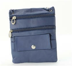 Lambskin Large Neck Purse Style : C13- MEDIUM BLUE