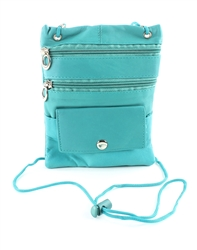Lambskin Large Neck Purse Style : C13- TURQUOISE