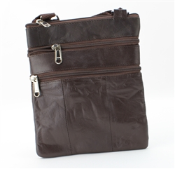 Sling Bag with Organizer Style : C14- DARK BROWN