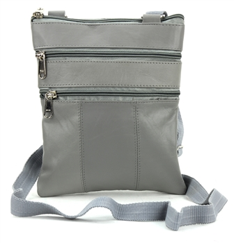 Sling Bag with Organizer Style : C14- LIGHT GREY