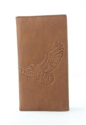 RFID Rodeo Wallet with Eagle print, Red Fin, Style: EMB 02E Tan