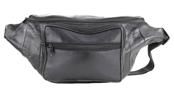 Double Compartment Leather Concealed Weapon Fanny Pack, Style: GB-2