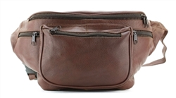 Cowhide Jumbo Fanny Pack Style : L/186 BROWN