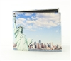 Statue of Liberty Print Vegan Leather Bi-Fold Wallet Style #VL-560