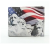 Mt. Rushmore Print Bi-Fold Vegan Leather Bi-Fold Wallet Style #VL-561