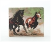 Horses Print Vegan Leather Bi-Fold Wallet Style #vL-567