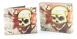 Skull and Bones Bi-Fold Vegan Leather Wallet VL-524
