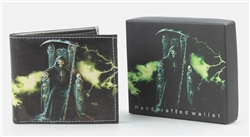 Grim Reaper Print  Bi-Fold Vegan Leather Wallet VL-525