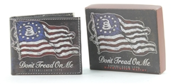 Don't Tread On Me Flag Bi-Fold Leather Wallet VL-527