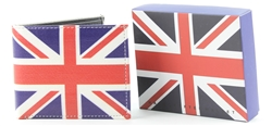 Union Jack  Bi-Fold Vegan Leather Wallet VL-530