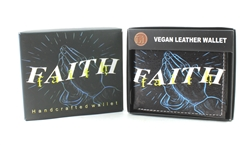 FAITH Print Vegan Leather Bi-Fold Wallet Style #VL-568