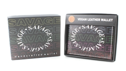 SAVAGE Print Vegan Leather Bi-Fold Wallet Style #VL-569