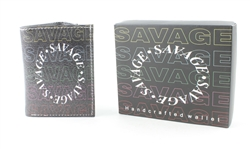 SAVAGE Print Vegan Leather Tri-Fold Wallet Style #VL-569TRI