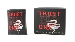 TRUST NO ONE Print Vegan Leather Tri-Fold Wallet Style #VL-572TRI