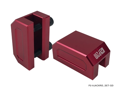 P2M FRAME RAIL JACK ADAPTERS : RED (2PCS SET)