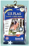 Annin Flagmakers, 002450R, 3' X 5' Nylon Replacement Flag