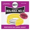"Harvey's, 011305, Bol-Wax No. 6 Urinal Urethane Wax Toilet Gasket, Fits 2"" outlest"
