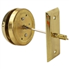 Ultra, 03200, Polished Brass, Door Mount Thumb Turn Door Bell Non Electric