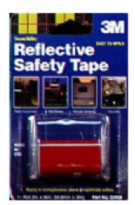 3m Scotchlite 03459 2x36 Red Reflective Safety Tape Roll